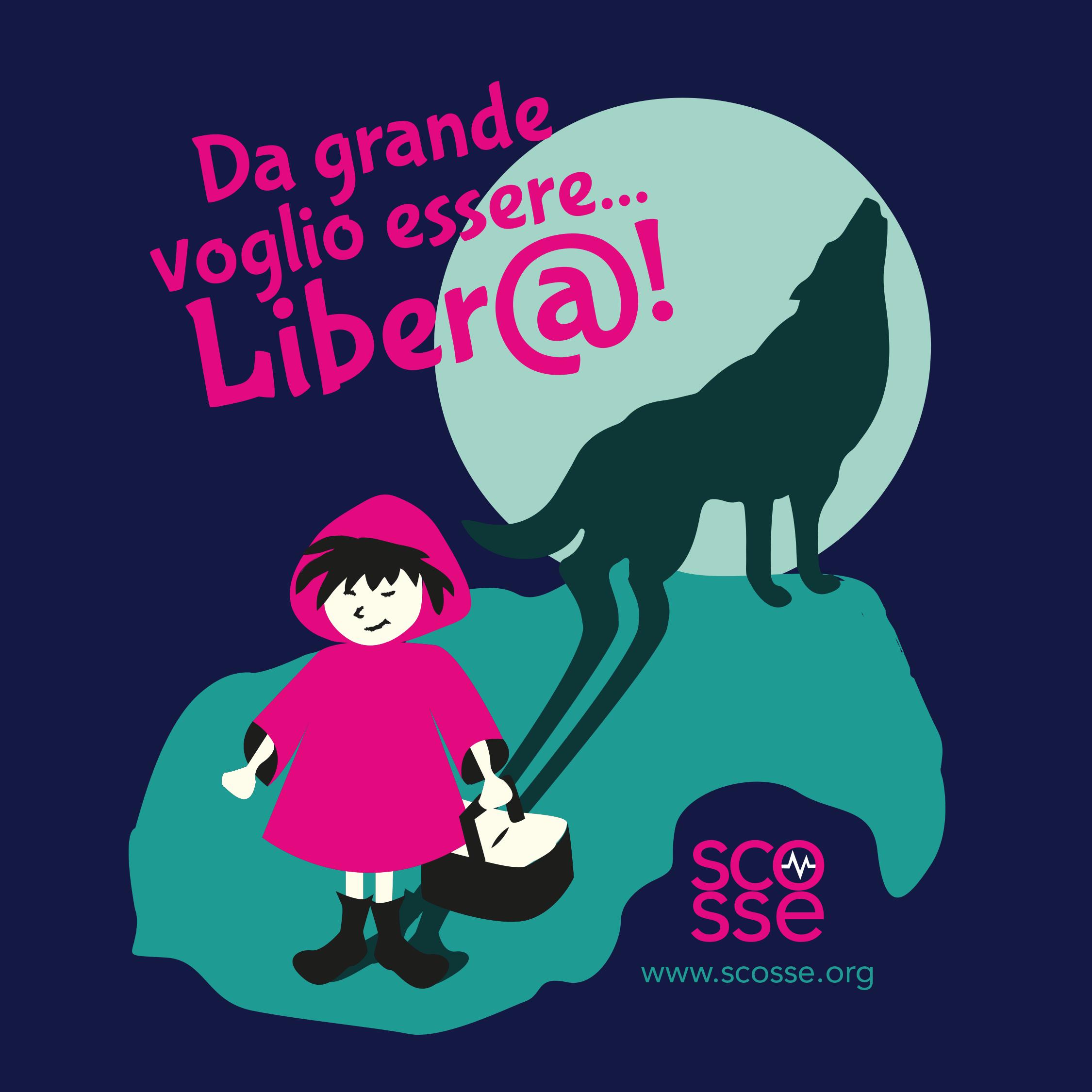 T-shirt  Da grande voglio essere Liber@!