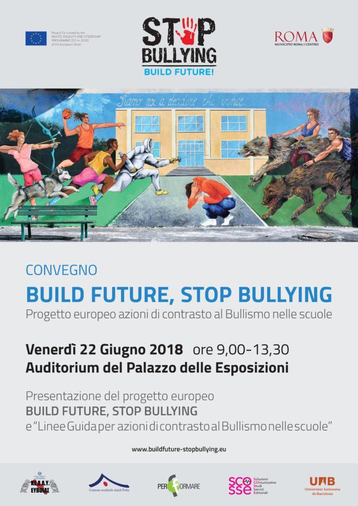 Locandina convegno Build future, stop bullying